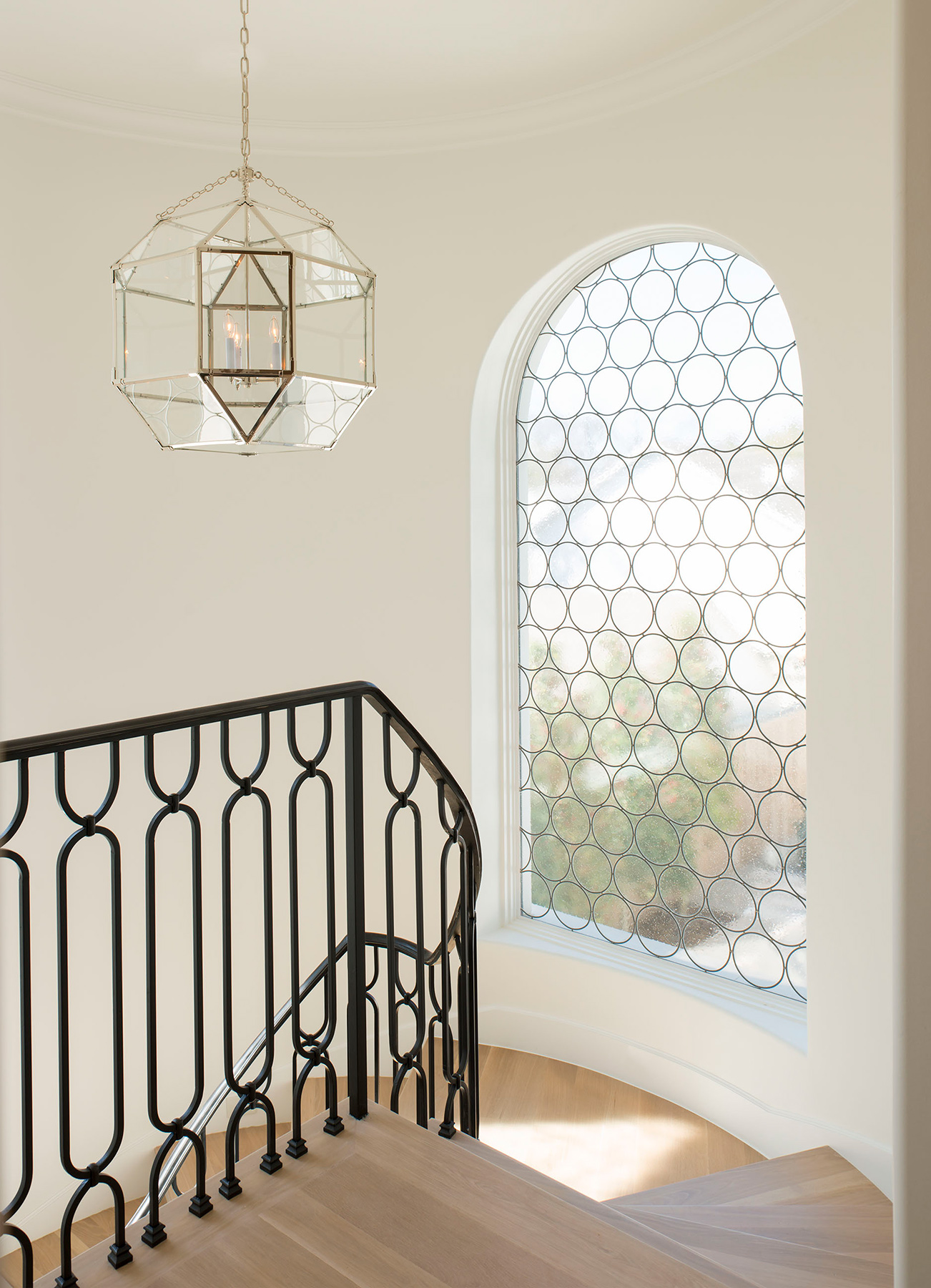 Leaded-glass-stairs